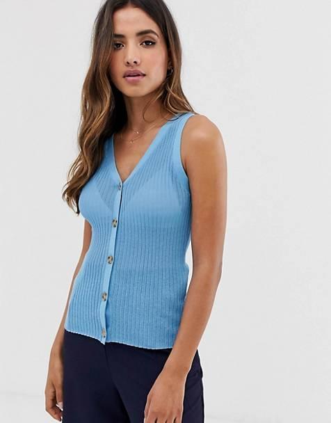 Camiseta azul botones