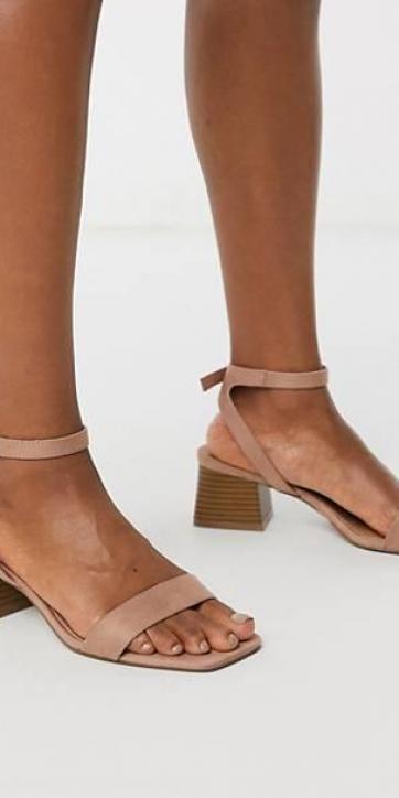 Sandalias de tacón nude