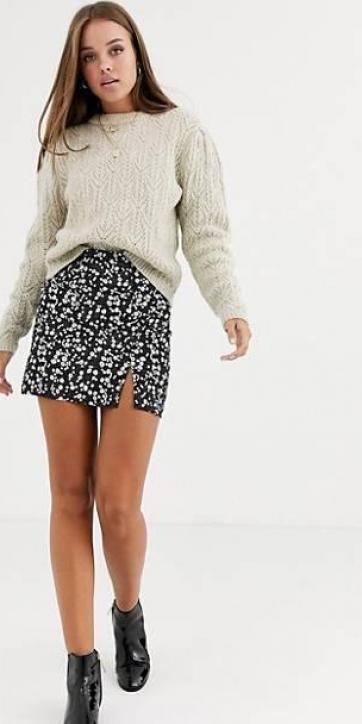 Minifalda estampado floral