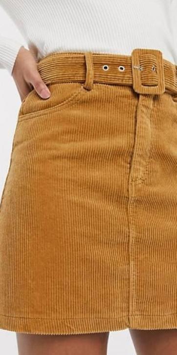 Minifalda pana marrón