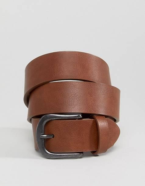 Cinturón tostado vintage