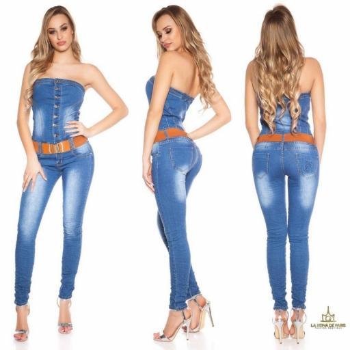 Jumpsuit escote bandeau de jean  [1]