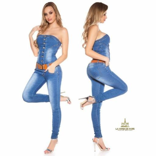 Jumpsuit escote bandeau de jean  [2]