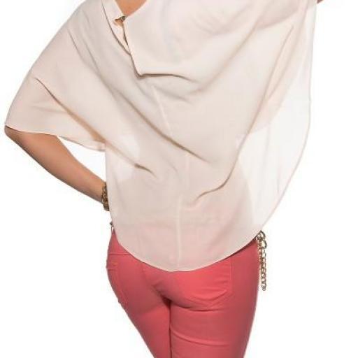 Camisa corta sensual diseño con capa [1]