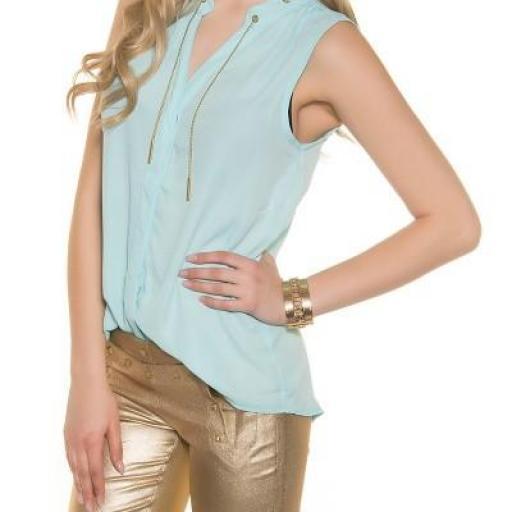 Blusa menta de gasa moda súper femenina [1]