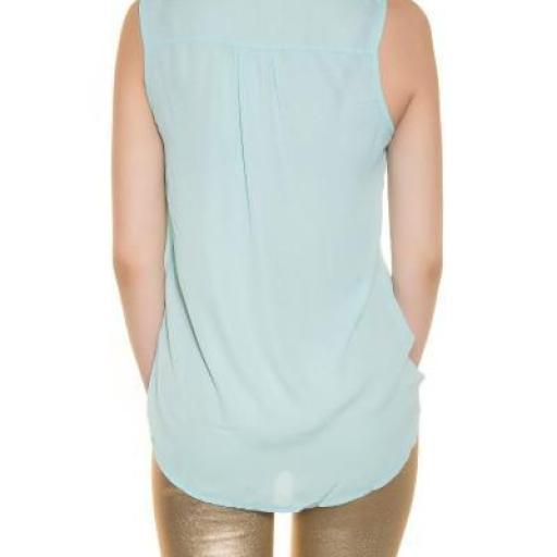Blusa menta de gasa moda súper femenina [2]