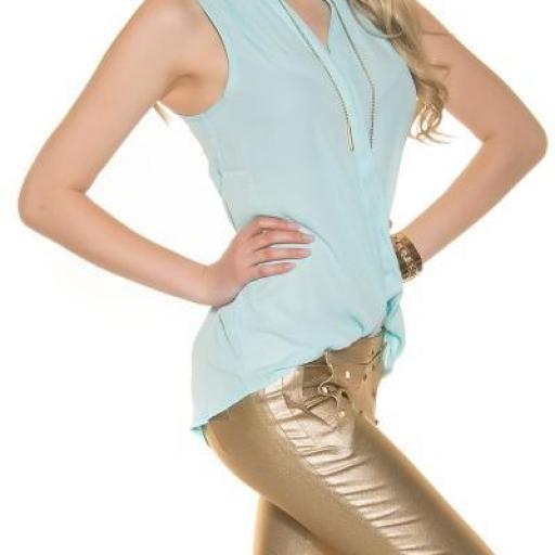 Blusa menta de gasa moda súper femenina [3]