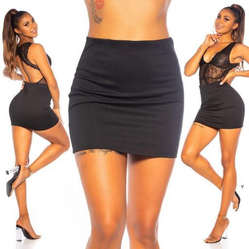 Minifalda elastica moda mujer