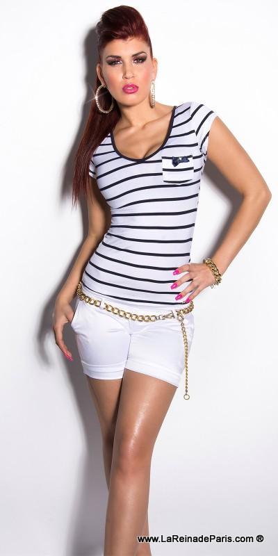 Moda muy femenina camiseta low cost
