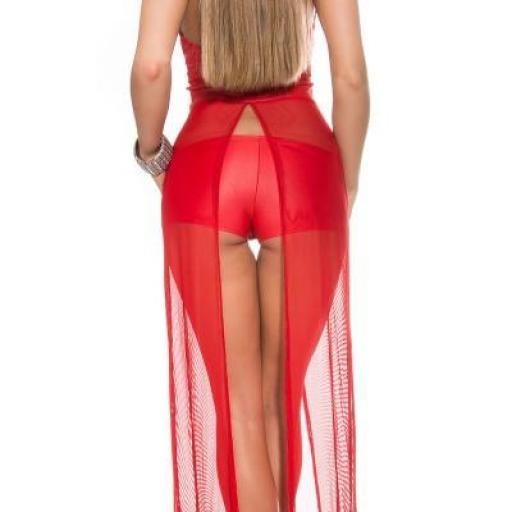 Moda gogo bailarina bustier + pantalón [2]