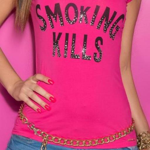 Camiseta mujer lema fumar mata [0]