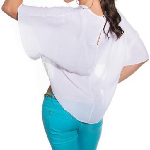 Camisa corta blanca capa posterior [3]