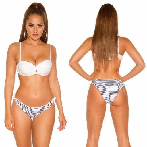 Bikini en look marinero blanco [1]