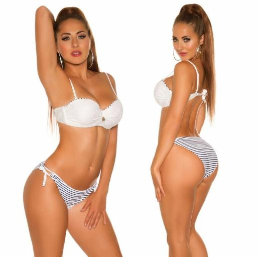 Bikini en look marinero blanco [3]