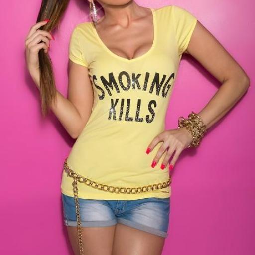 Camiseta mujer amarilla con mensaje [3]