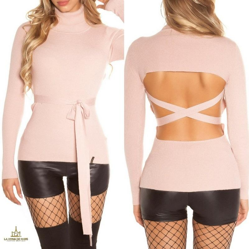 Jersey rosa fashion cut out