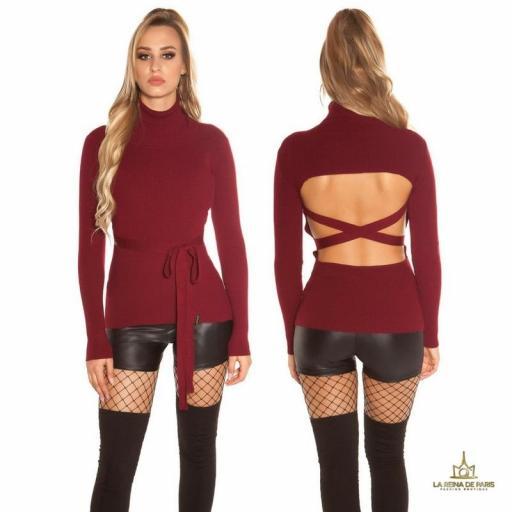 Jersey burdeos fashion cut out [1]