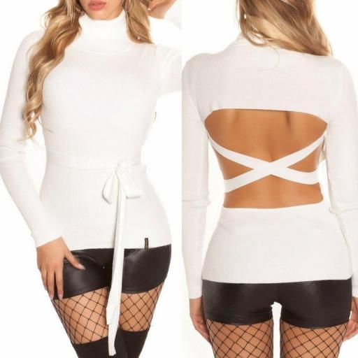 Jersey blanco fashion cut out