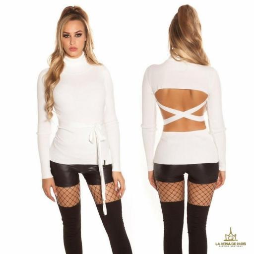 Jersey blanco fashion cut out [1]