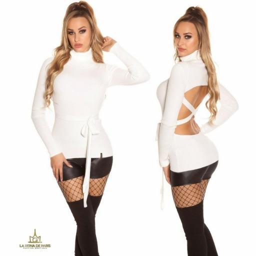 Jersey blanco fashion cut out [3]