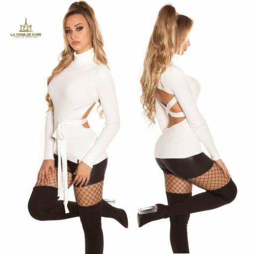 Jersey blanco fashion cut out [2]