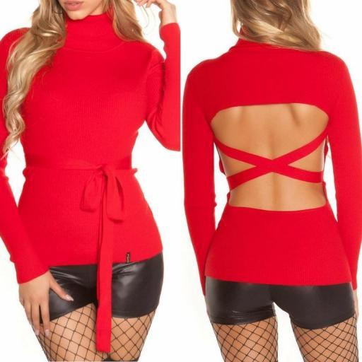 Jersey rojo fashion cut out