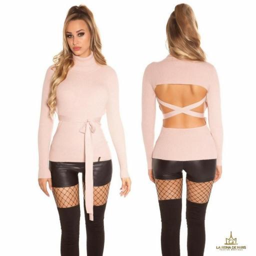 Jersey rosa fashion cut out [1]