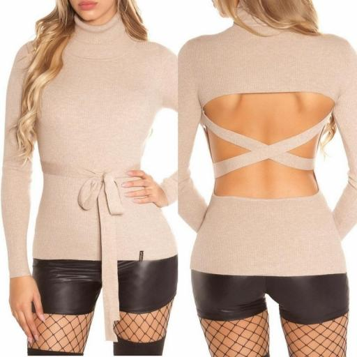 Jersey capuchino fashion cut out