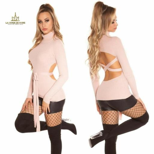 Jersey rosa fashion cut out [2]