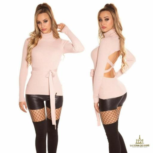 Jersey rosa fashion cut out [3]