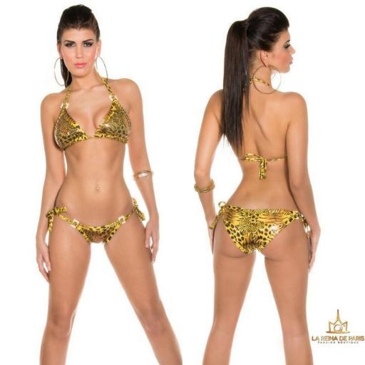 Bikini Amarillo Leo print Boreal