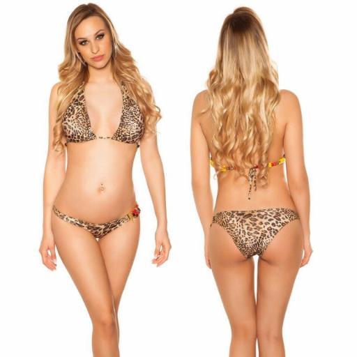 Bikini de moda con perlas leopardo [1]