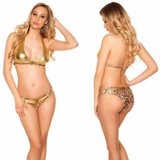 Bikini bicolor leopard gold  [2]