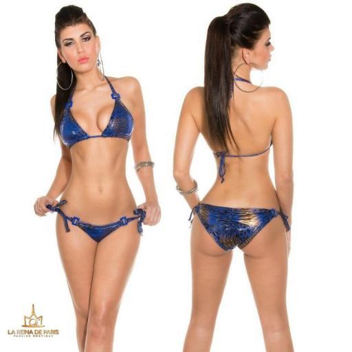 Bikini Brillante azul Print Boreal [1]