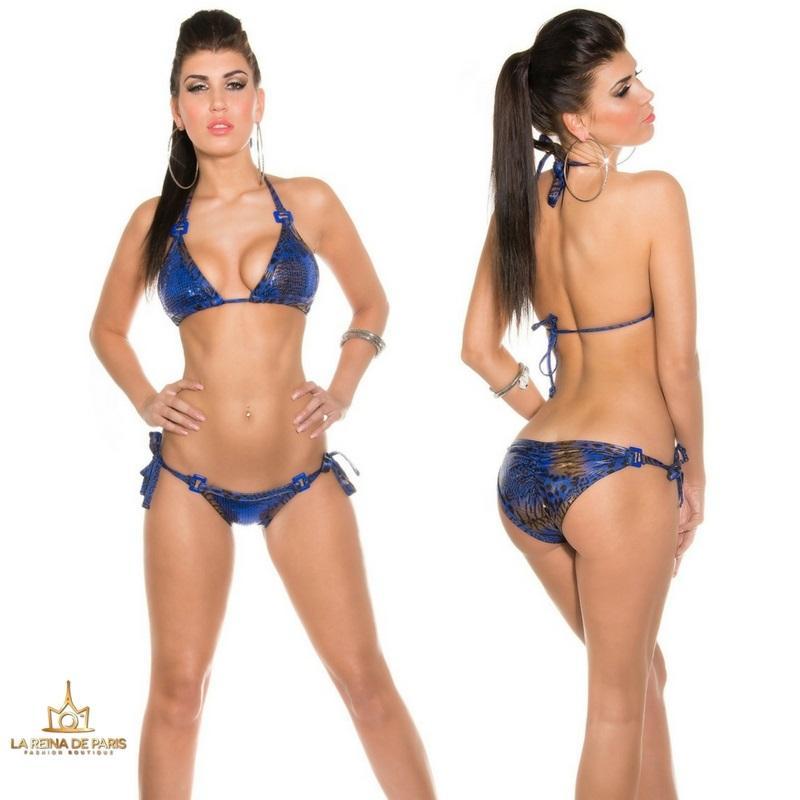 Bikini Brillante azul Print Boreal