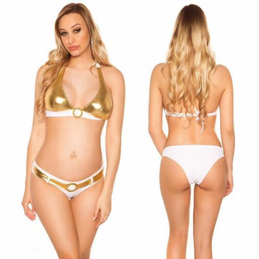 Bikini bicolor blanco oro [1]