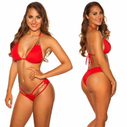 Bikini rojo y cadenas  [2]