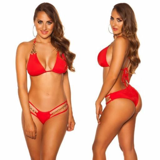 Bikini rojo y cadenas  [3]