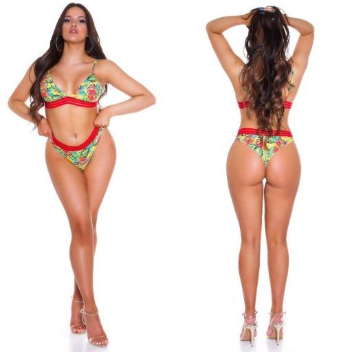 Bikini exótico verde [1]
