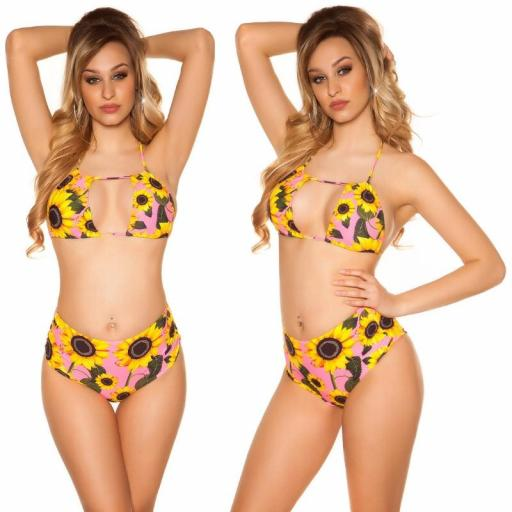 Bikini girasoles fucsia neón [3]
