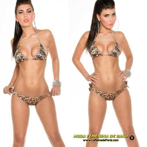 Bikini de anudar leopardo lentejuelas [1]