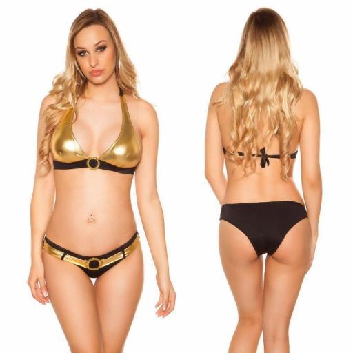 Bikini bicolor black gold  [1]