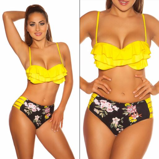 Bikini push up Arosa amarillo