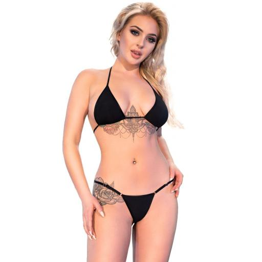 Bikini tanga isla Saona negro