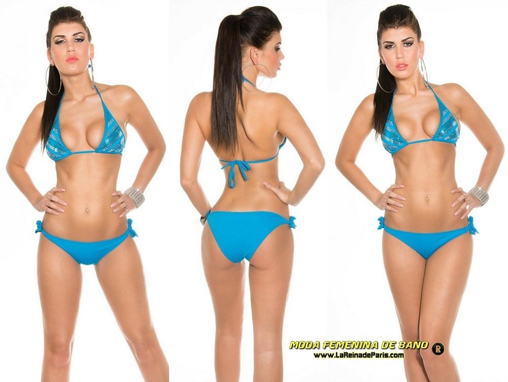 Bikini mini para atar con lentejuelas