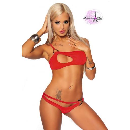 Bikini atractivo RICCI Rojo [1]