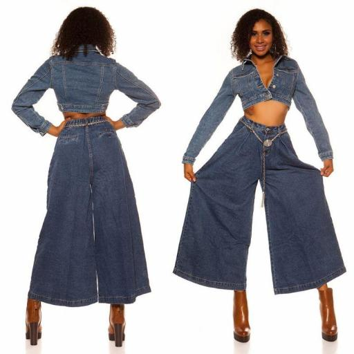 Blue jeans extra anchos