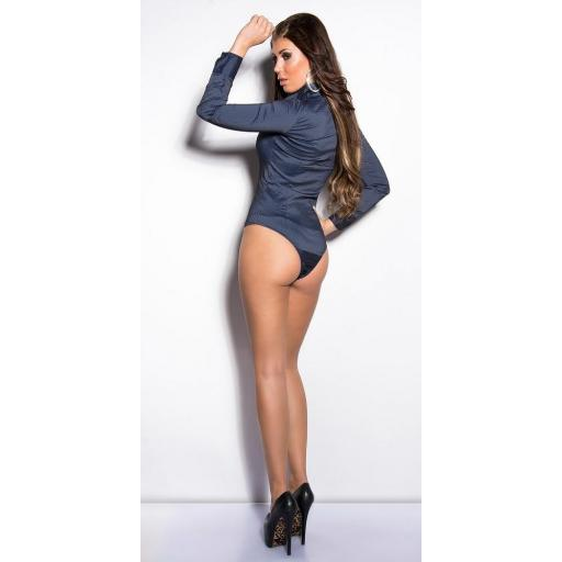 Body blusa azul de moda [3]