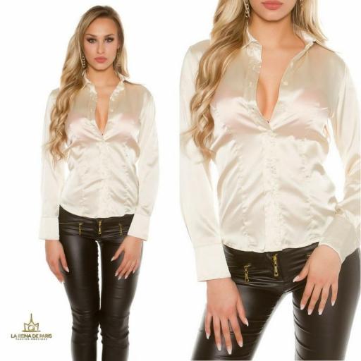 Blusa satinada beige [3]