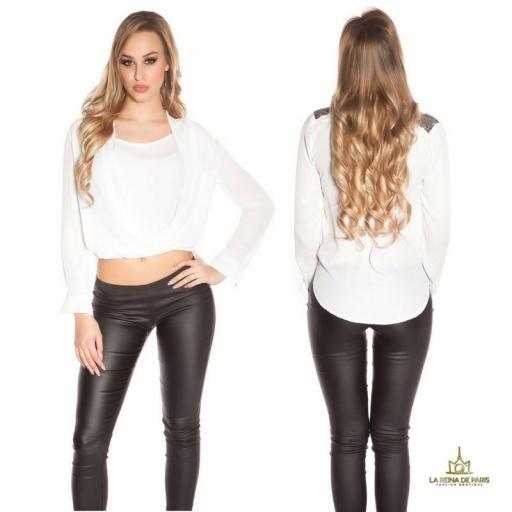 Blusa blanca diseño de estilo